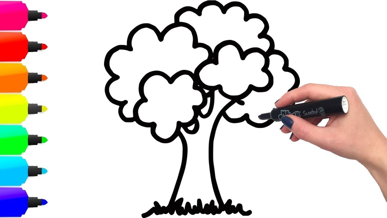 1280x720 Coloring Two Trees And Drawing For Kids, Khmer Toy Art