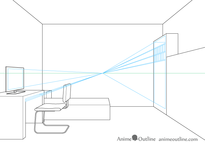 Two Point Perspective Drawing   Free download best Two Point