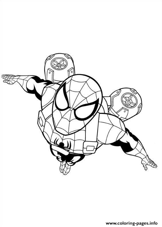 565x792 Ultimate Spider Man Coloring Pages Printable