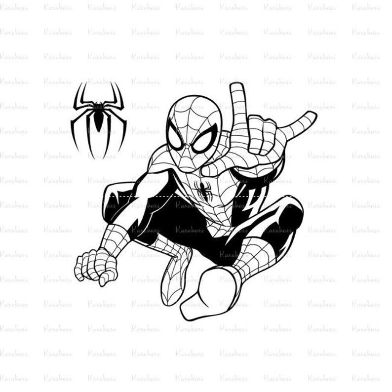 794x794 Ultimate Spiderman Spiderman Silhouette Spiderman Etsy