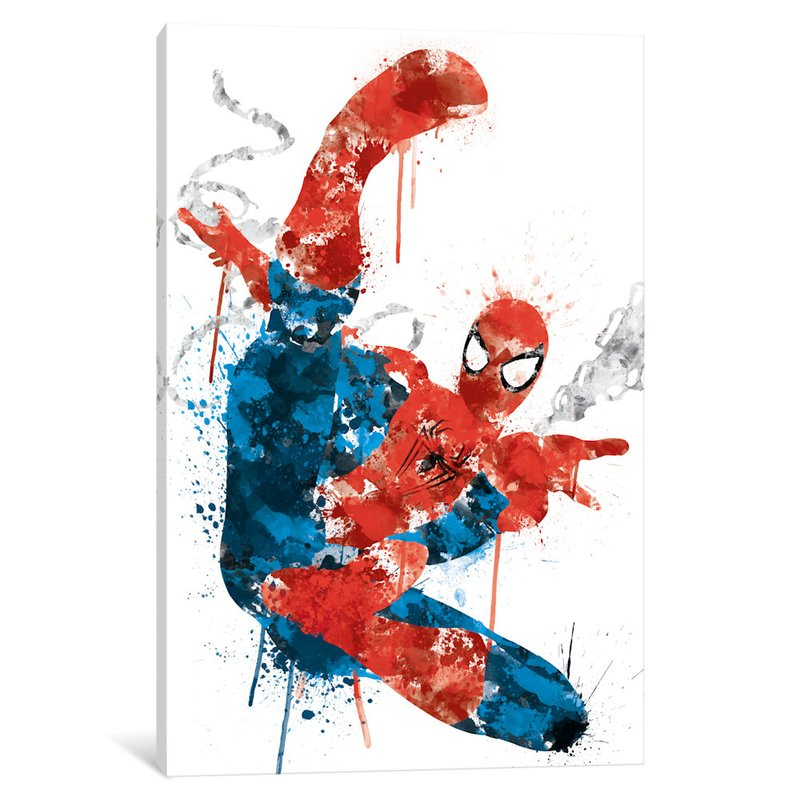 800x800 Icanvas 'ultimate Spider Man Watercolor'