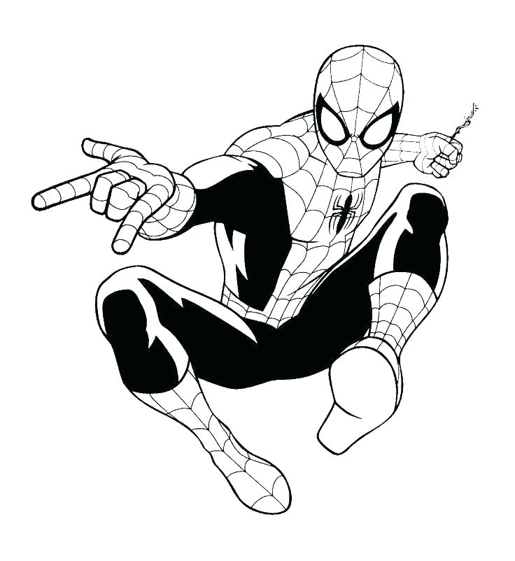 736x802 Spider Man Coloring Book
