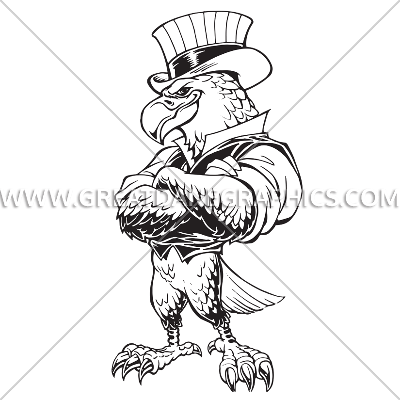 825x825 Proud Uncle Sam Eagle Production Ready Artwork For T Shirt Printing