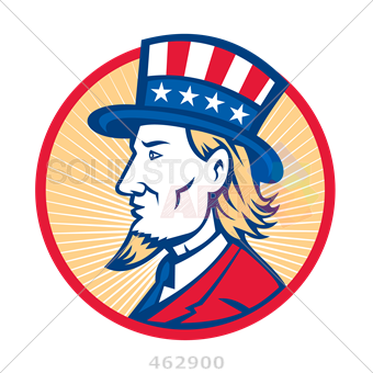 340x340 Stock Illustration Of Retro Cartoon Drawing Of Side View Of Uncle