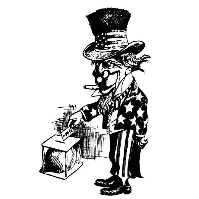 660x660 Uncle Sam Voting