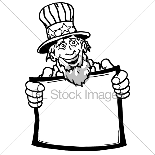 500x500 Uncle Sam Black And White Gl Stock Images