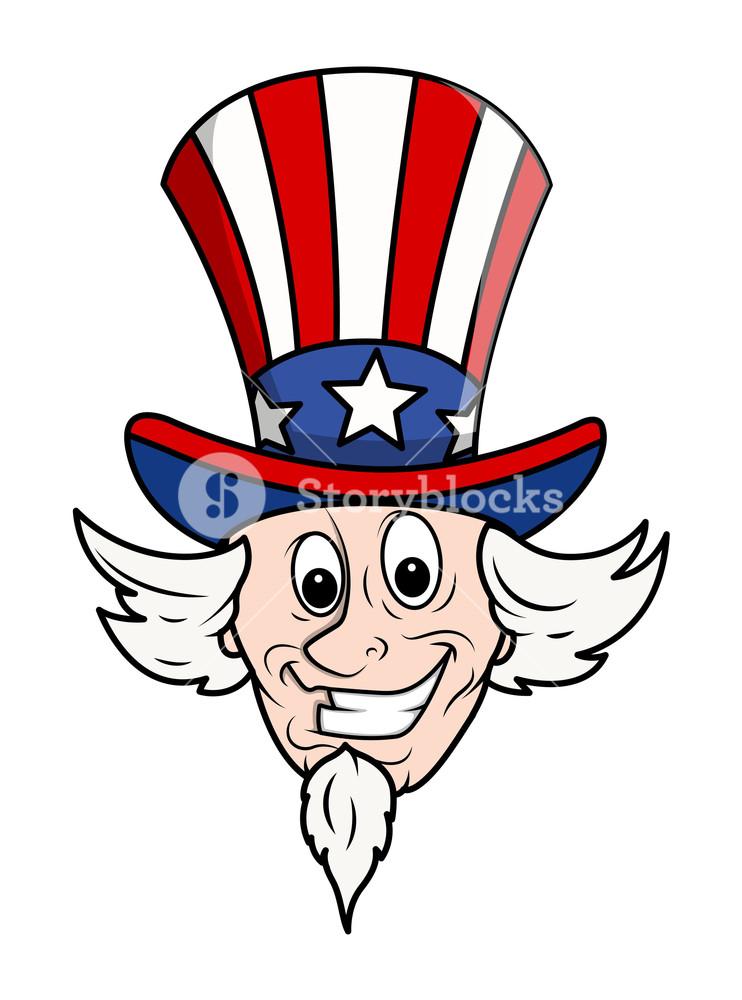 742x1000 Uncle Sam Cartoon Face Royalty Free Stock Image