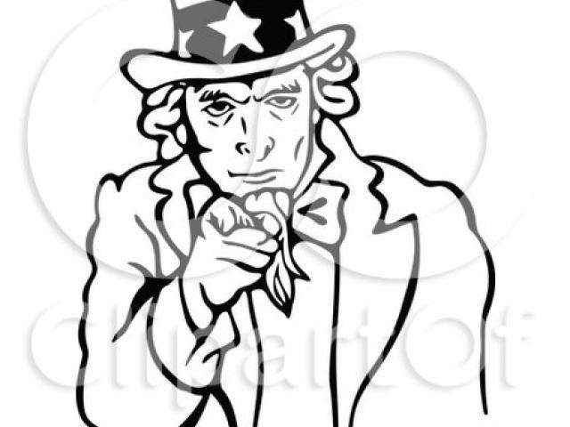 640x480 Uncle Sam Clipart Outline