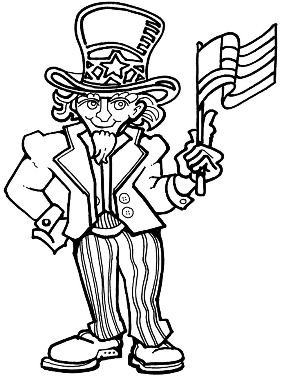 972x1316 Best Uncle Sam Coloring