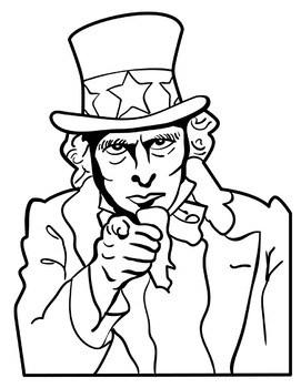 271x350 Uncle Sam Clipart Black And White Clipart Portal