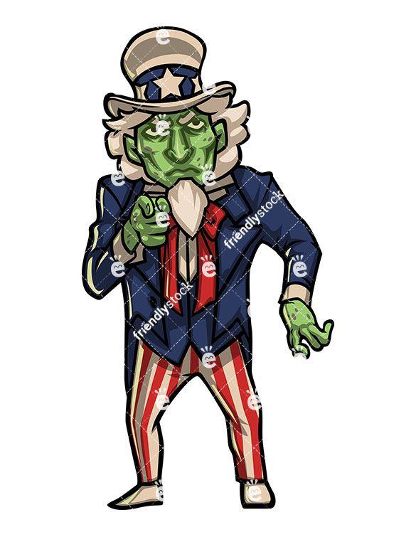 585x755 Zombie Uncle Sam Zombie Clipart Clip Art, Zombie Clipart