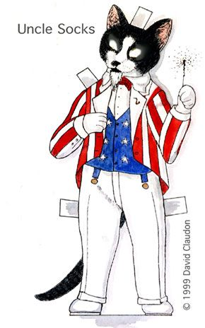 290x464 uncle socks clarence wears a traditional uncle sam red and white