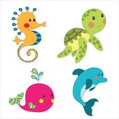 Underwater Animals Drawing