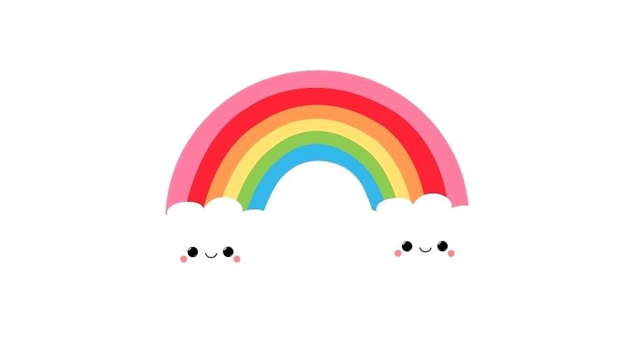 900x520 rainbow drawing cartoon rainbow rainbow unicorn drawing easy