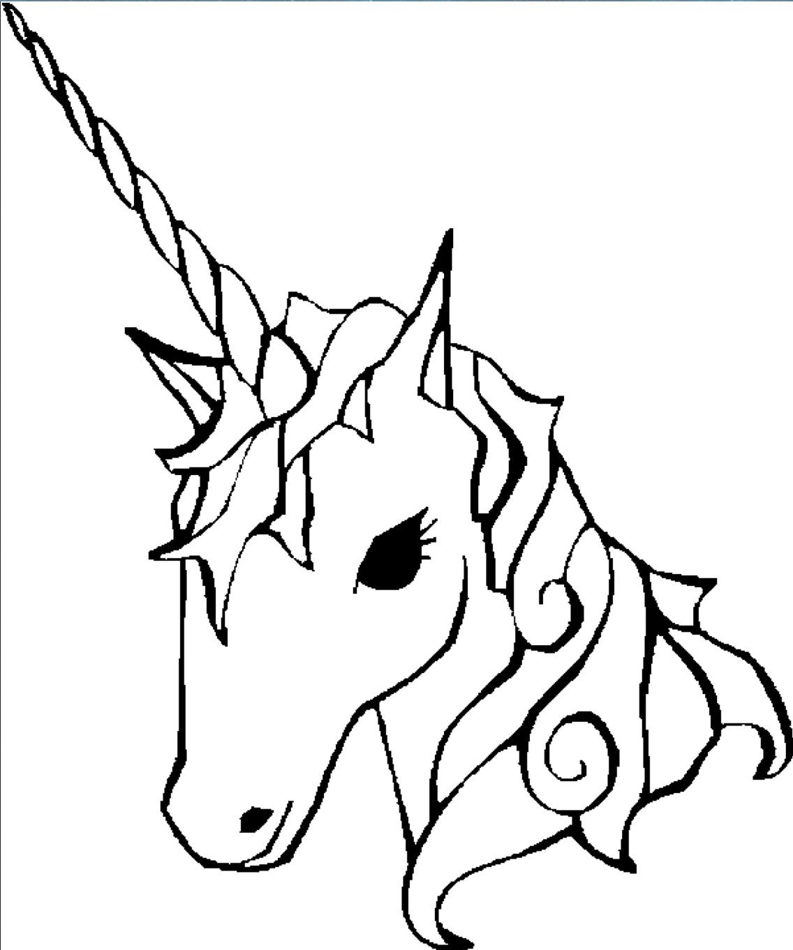 1136x1362 beautiful unicorn horn coloring
