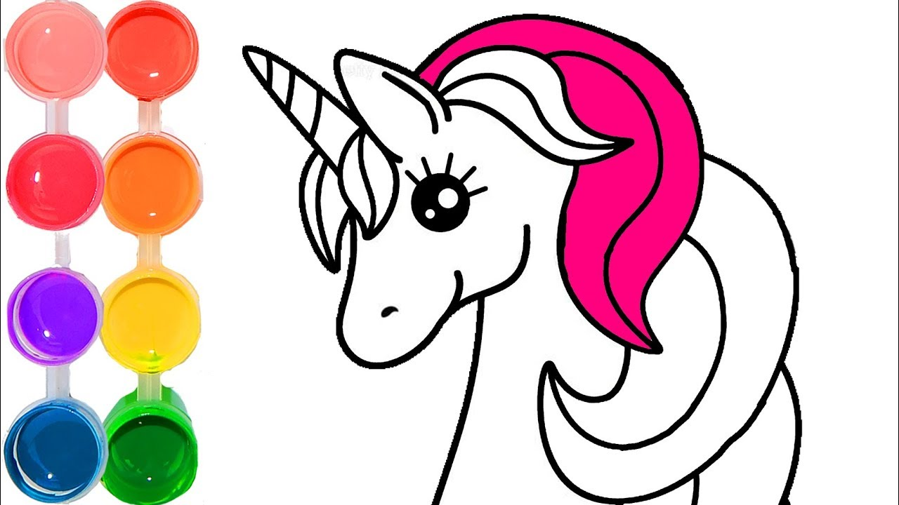 Unicorn Line Drawing | Free download on ClipArtMag