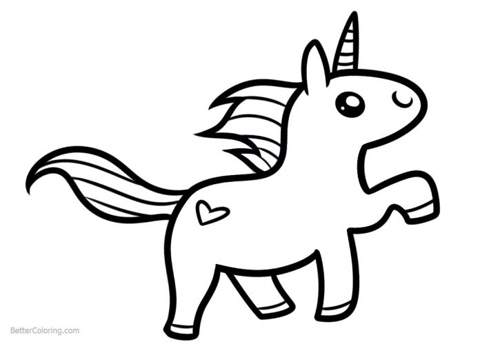 Unicorn Simple Drawing | Free download on ClipArtMag