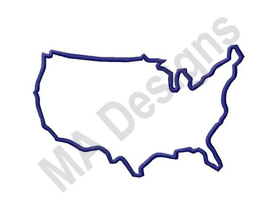 570x456 us outline machine embroidery design map united states us etsy
