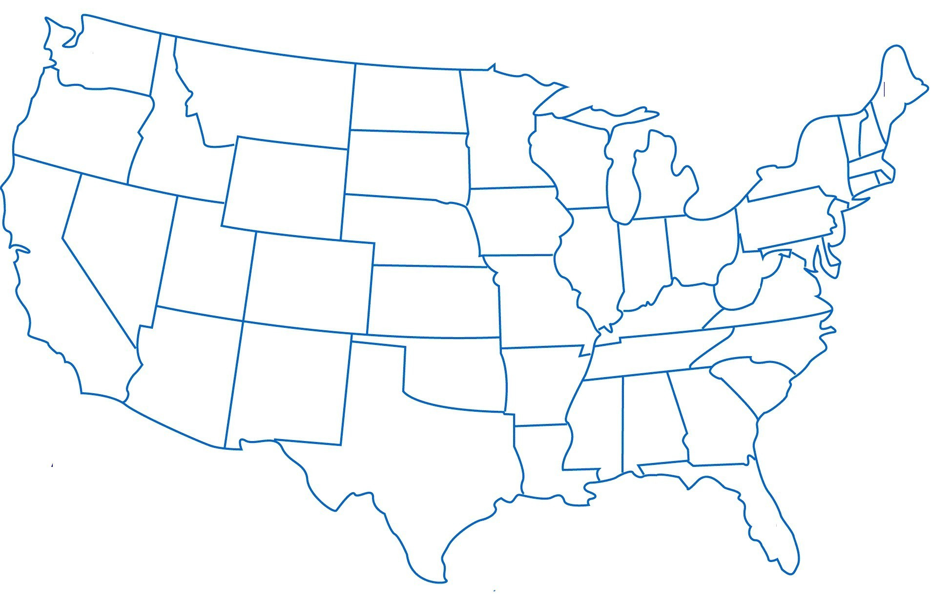 United States Outline Drawing | Free download best United ...