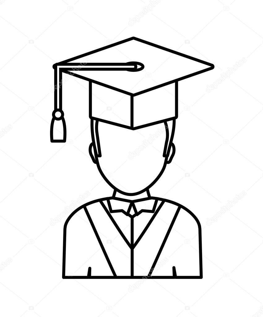 850x1024 Cap Drawing University For Free Download