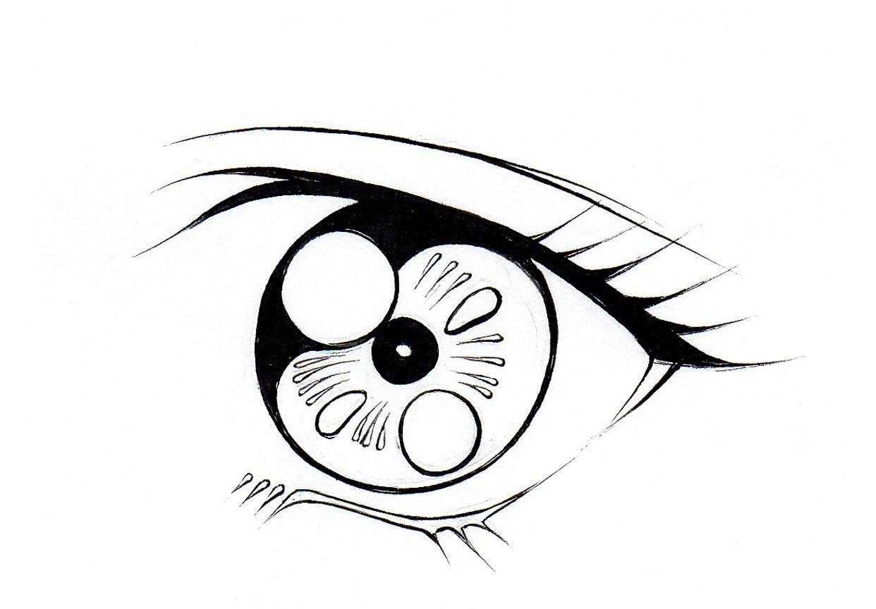 1242x864 How To Draw Female Eyes