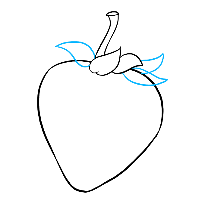680x678 How To Draw A Strawberry
