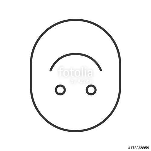 500x500 Upside Down Smile Linear Icon Stock Image And Royalty Free Vector