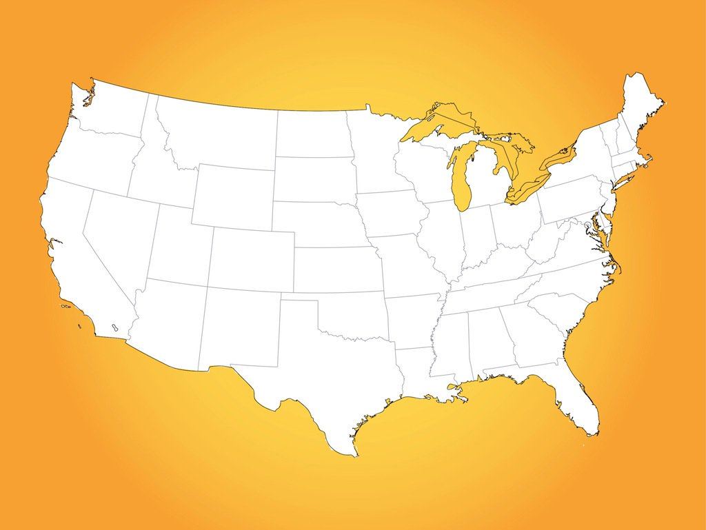 Us Map Drawing   Free download best Us Map Drawing on ...
