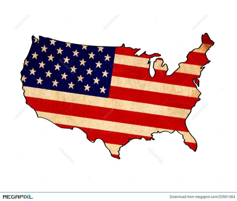 800x678 usa map on usa flag drawing illustration