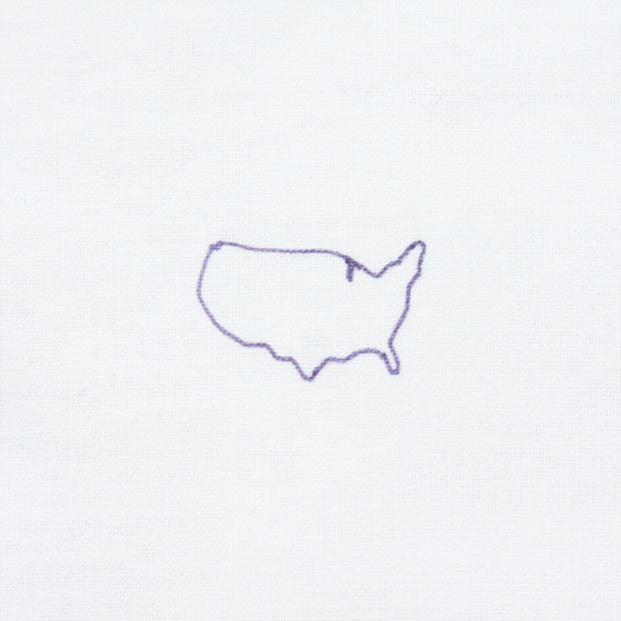 900x900 Embroidered Usa Map Necklace