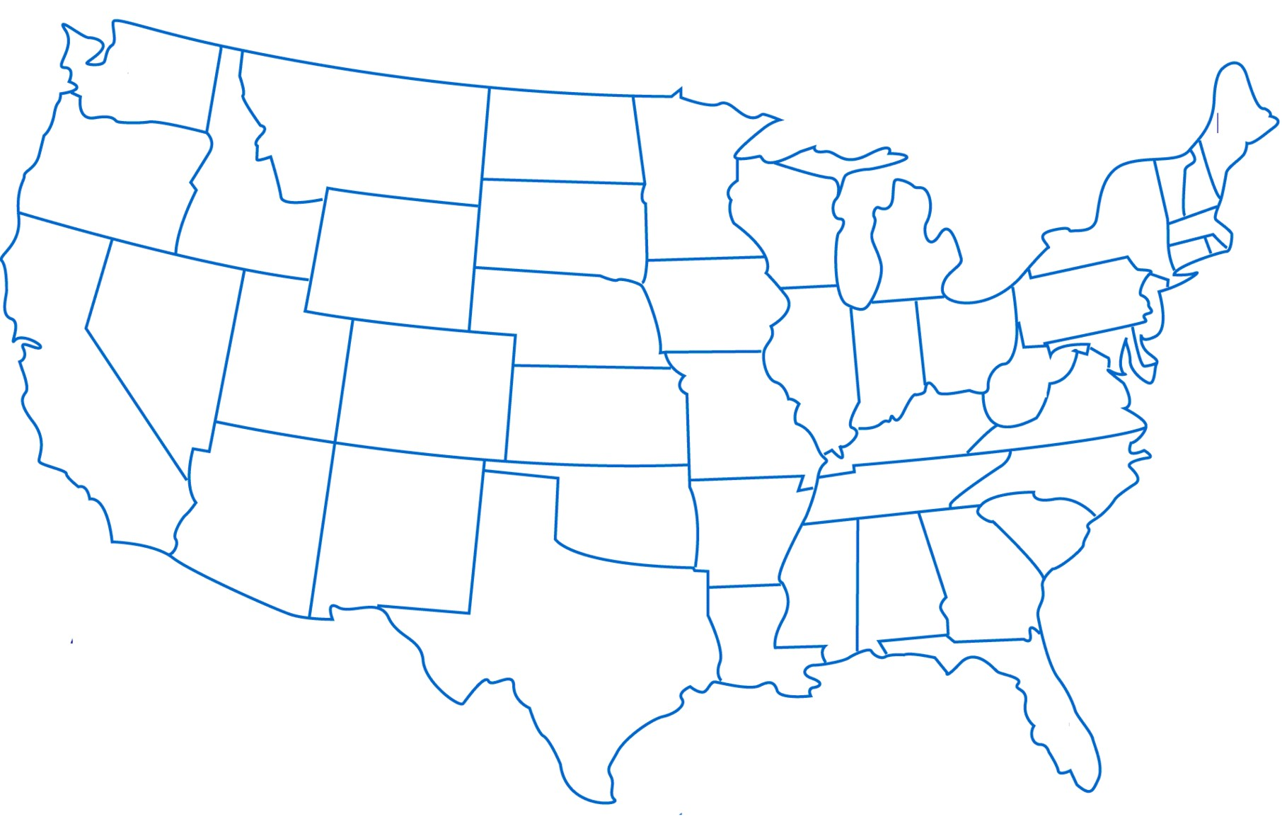 1812x1174 New Sketch Drawing Us Map Online Usa Clipart Blank