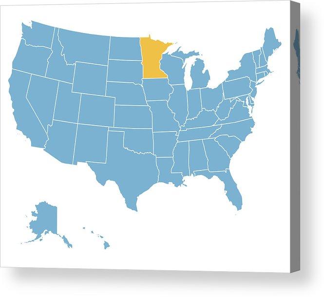665x610 Usa Map Highlighting State Of Minnesota