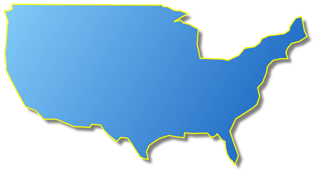 635x346 Clipart Map Of United States