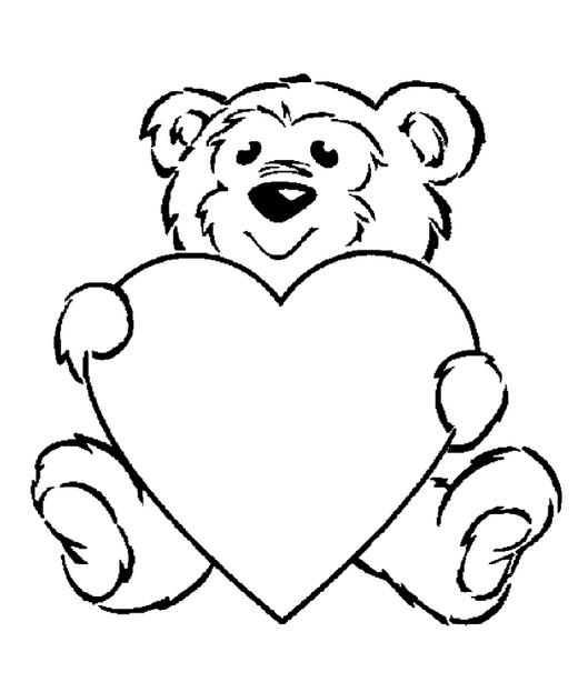 Valentine Bear Drawing