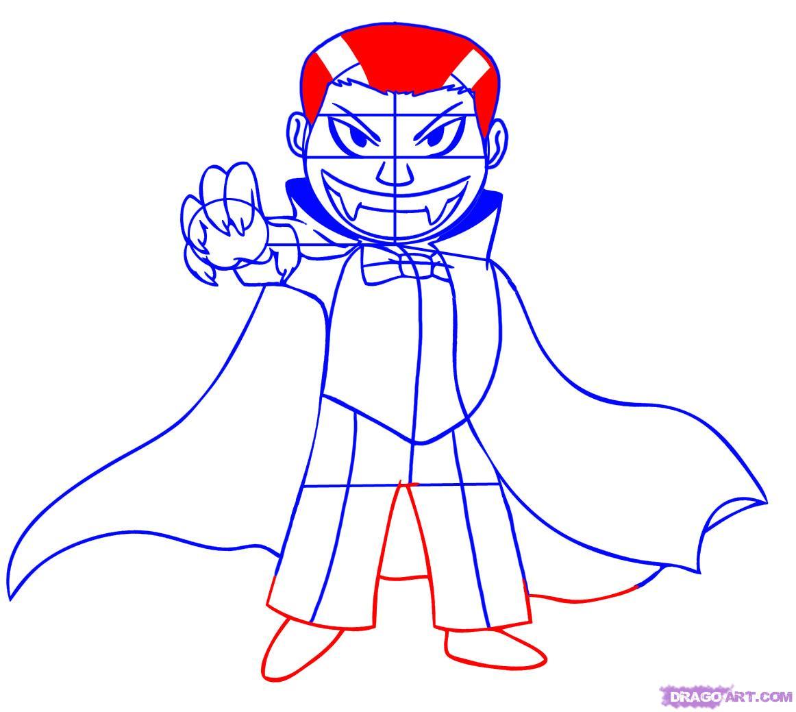 1162x1039 How To Draw A Cartoon Vampire, Step