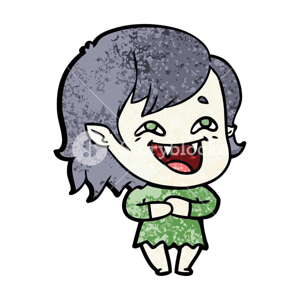 1000x1000 Cartoon Laughing Vampire Girl Royalty Free Stock Image
