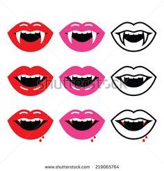Vampire Lips Drawing
