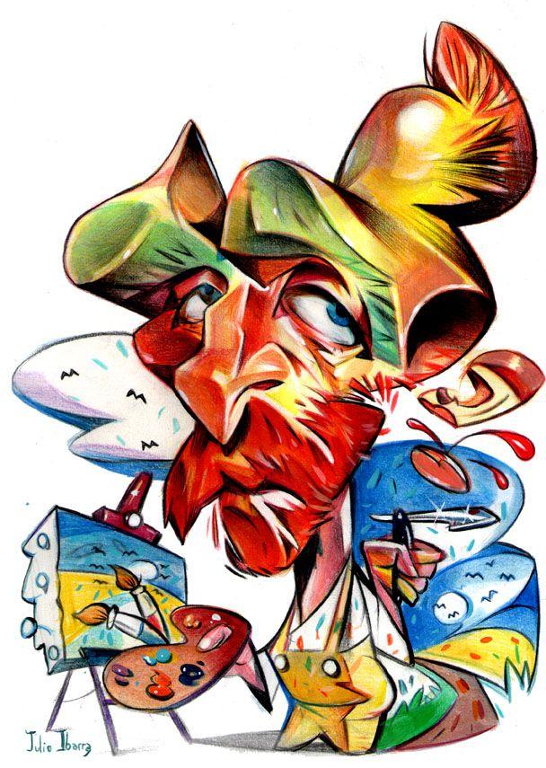608x855 vincent van gogh cariactures van gogh, caricature