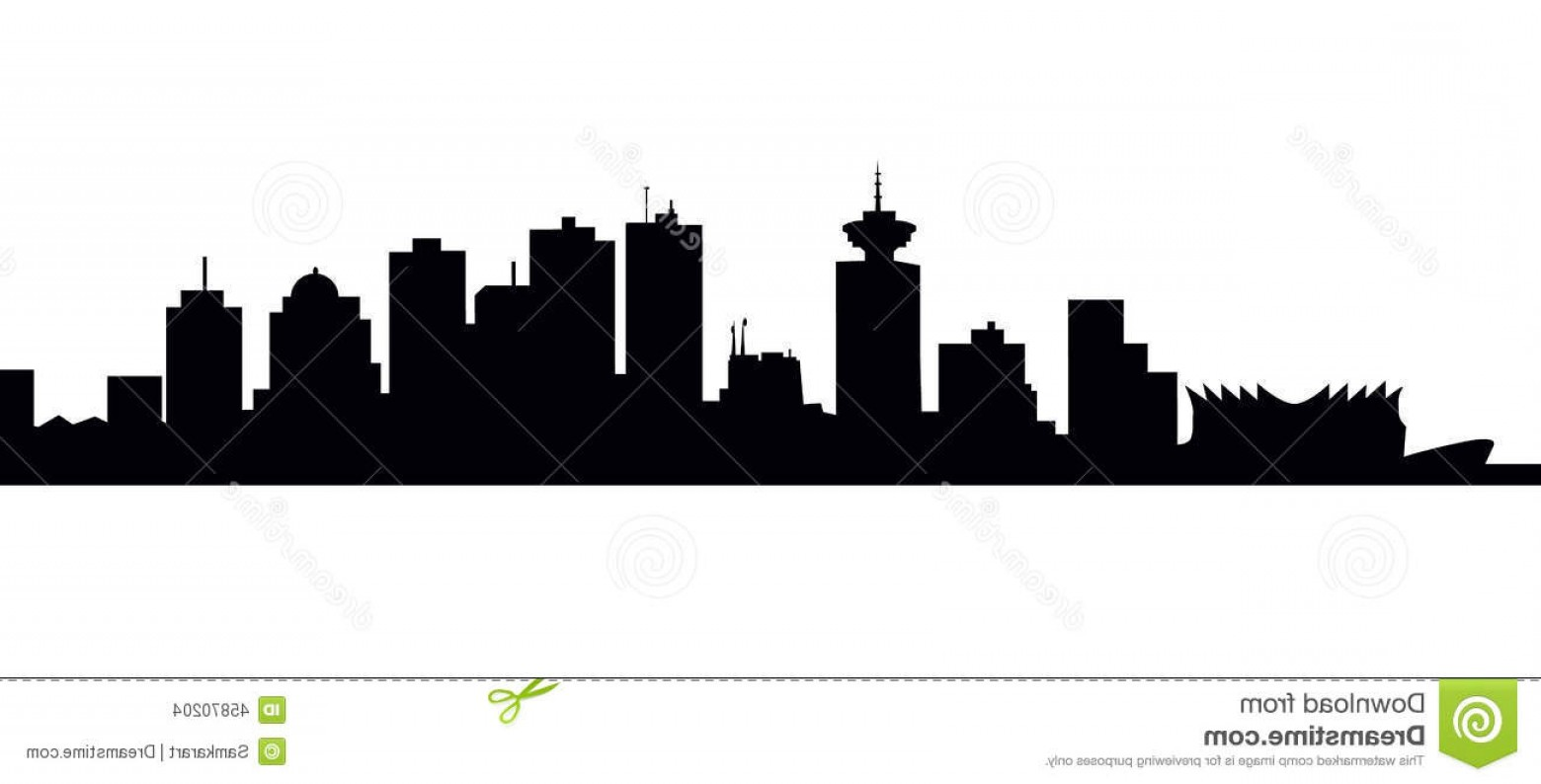1560x794 Stock Illustration Vancouver Skyline Vector Illustration Image