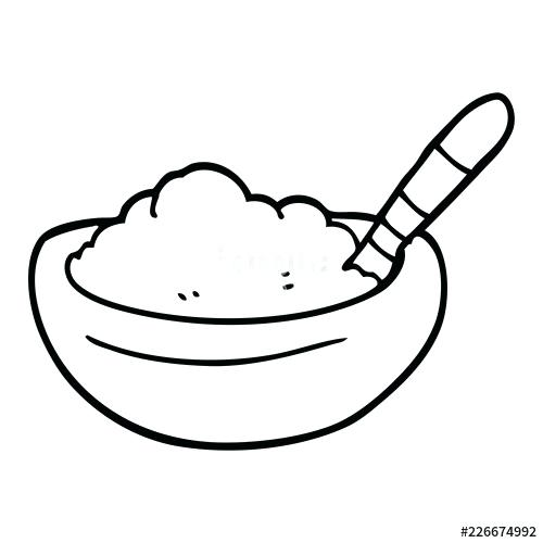 500x500 drawing of a bowl line drawing cartoon bowl of cereal bowl of rice