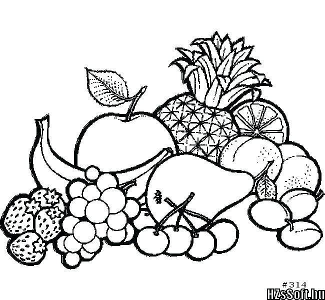 650x600 Fruits Drawing Worksheets Coloring Picture Of Fruit Pages