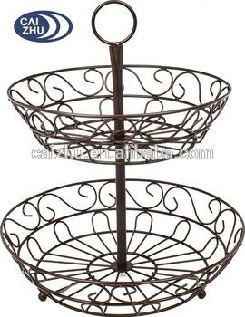 270x350 Modern Housewares Metal Wire Fruit Vegetable Basket Display Rack