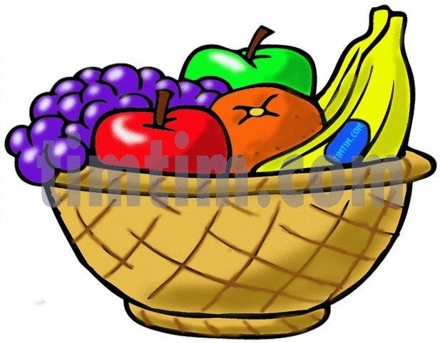 617x480 Fruit In Fruit Basket Drawing