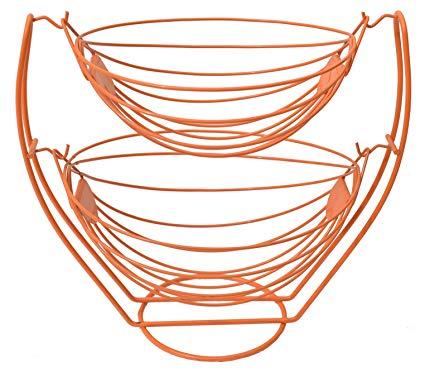 425x372 Plantex Stainless Steel Double Step Swing Fruit Vegetable Basket