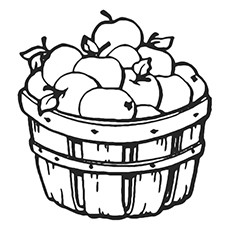 230x230 Vegetable Basket Coloring Pages Fresh Top Apple Coloring Pages