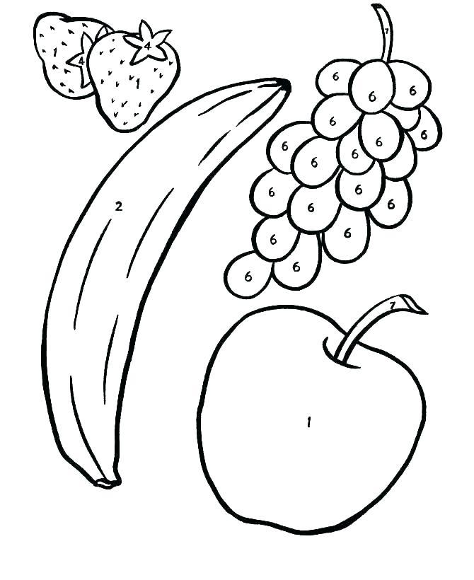 670x820 Drawing Of Fruit Basket For Kids