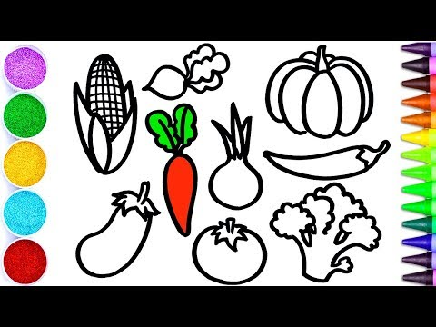 480x360 How To Draw A Basket Of Vegetables
