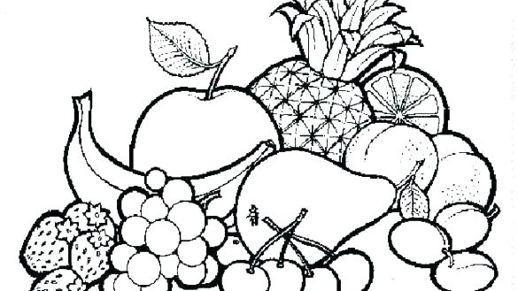 585x329 Vegetable Basket Coloring Pages