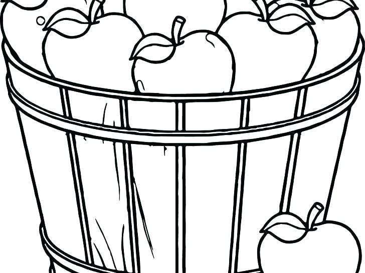 728x546 Drawing Of Fruit Basket For Kids Apple Coloring Pictures Fruit