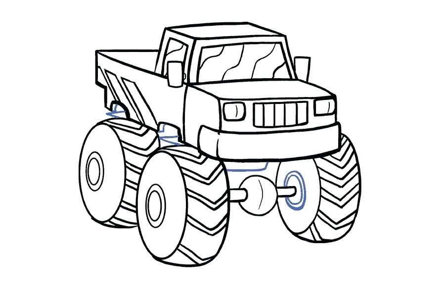 900x600 monster truck drawing learn how to draw a monster truck monster